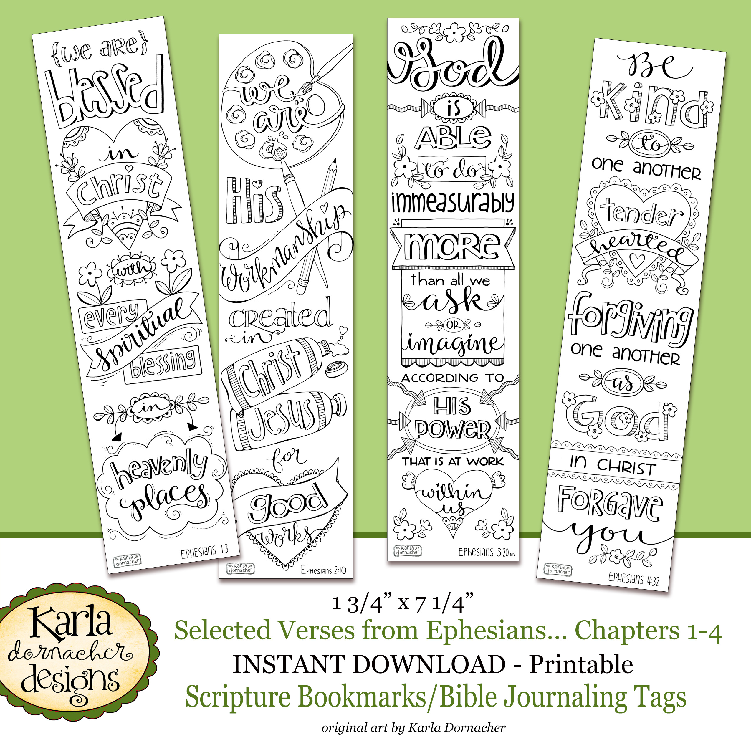 photograph regarding Who I Am in Christ Printable Bookmark identified as Ephesians 1-4 Colour-Your-Private Bible Journaling Bookmarks