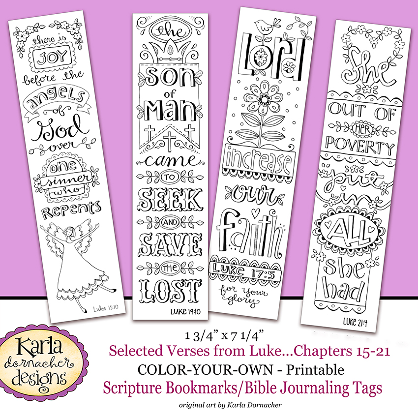Luke 15 21 Color Your Own Bible Journaling Bookmarks