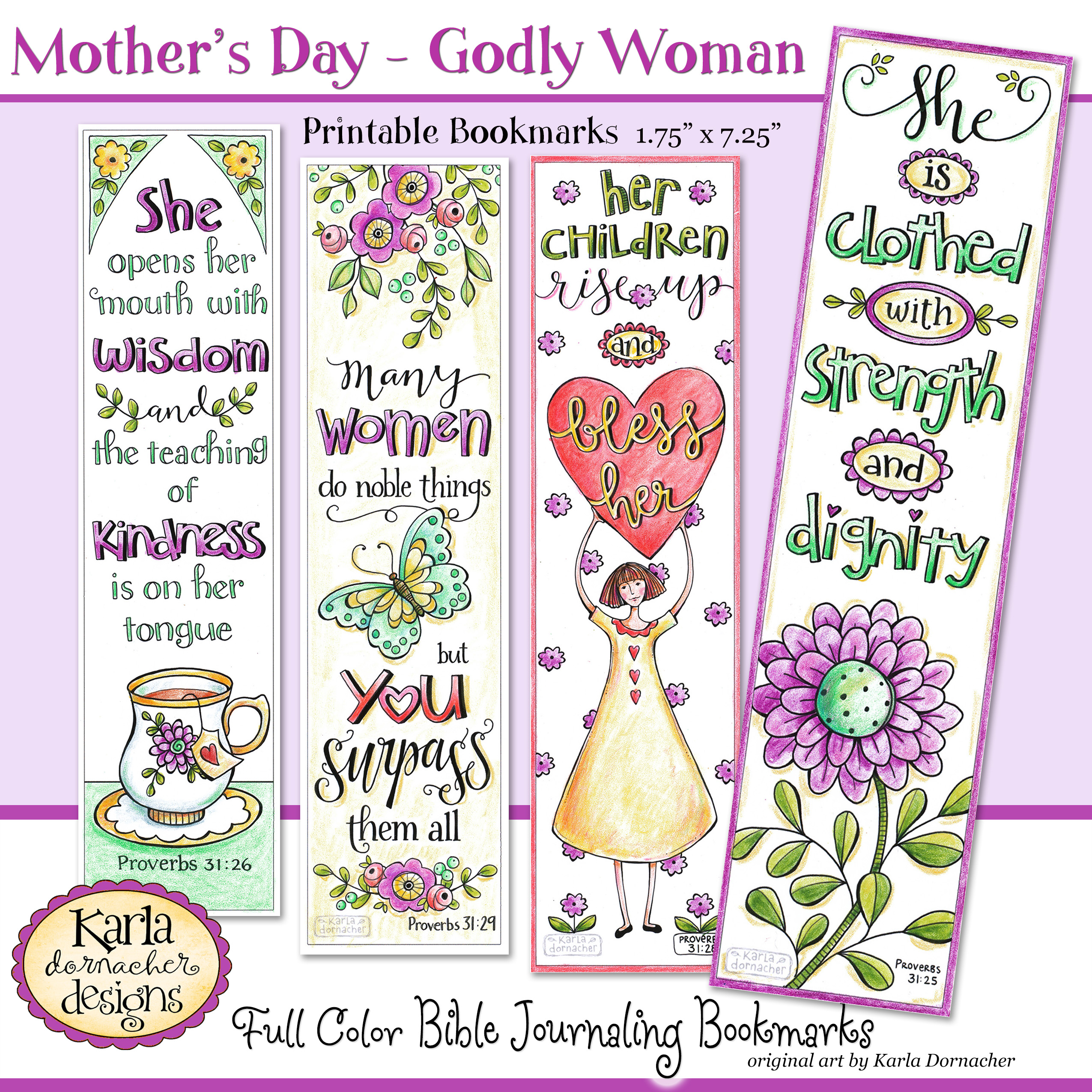 mother s day proverbs 31 godly woman full color printable bookmarks. Black Bedroom Furniture Sets. Home Design Ideas