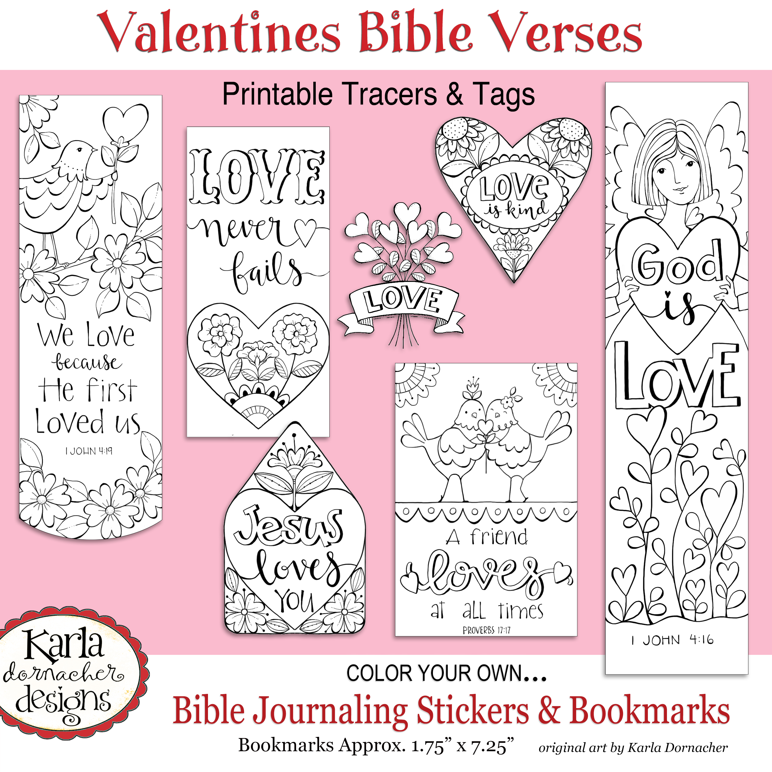 Valentine bookmark to color - Valentine Bookmark To Color 53
