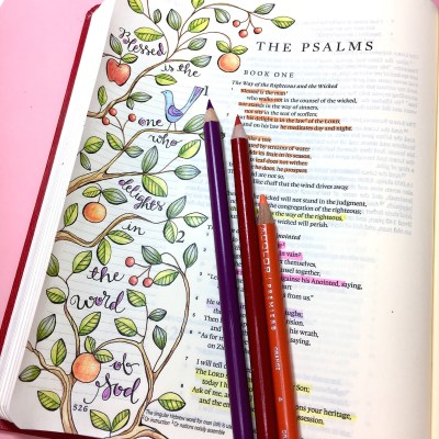 Psalm 1 – Creating Outside the Lines – Step by Step