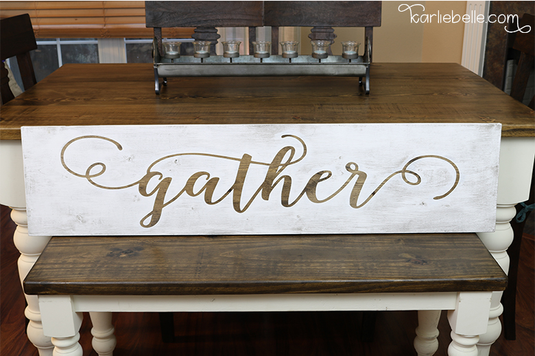 How to Make a Gather Wooden Sign
