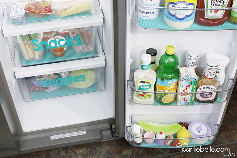 Tackling your Home Project List- Refrigerator Organization- Add Play Food for Toddlers