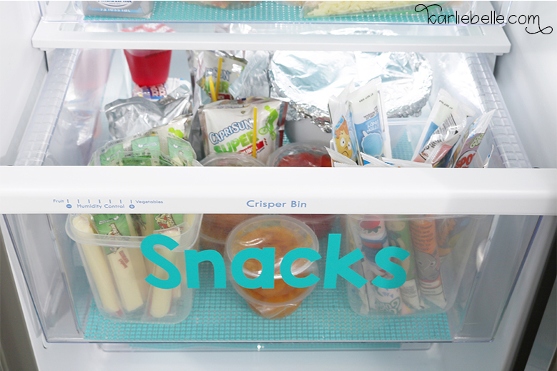 Tackling your Home Project List- Refrigerator Organization- Snacks Drawer