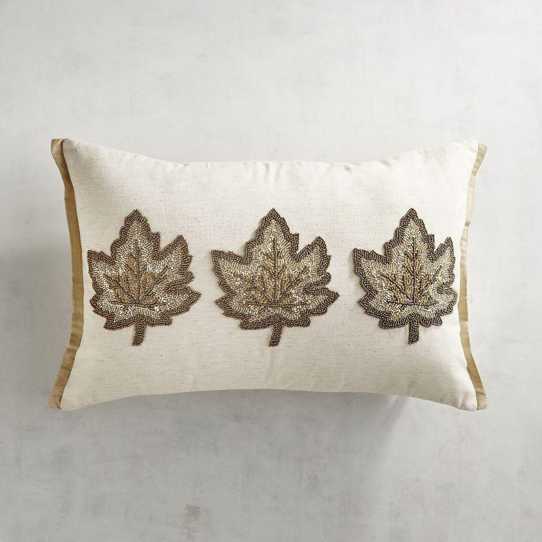 Neutral Fall Decor Leaf Pillow Pier 1