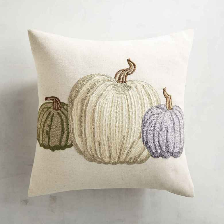 Neutral Fall Decor Pumpkin Pillow Pier 1