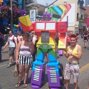 rainbow optimus prime!!