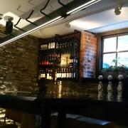 bar behind us