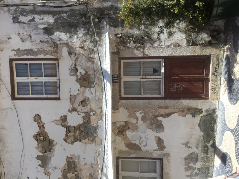 Crumbling Facades and traditional cobbled streets in Cascais