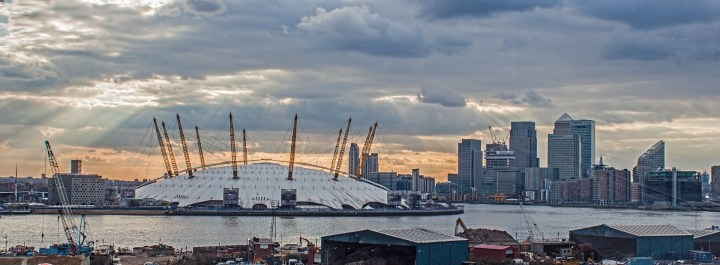 A view of the O2 Arena in London, which would be unlikely to host Eurovision as it is booked by International performers far in advance.