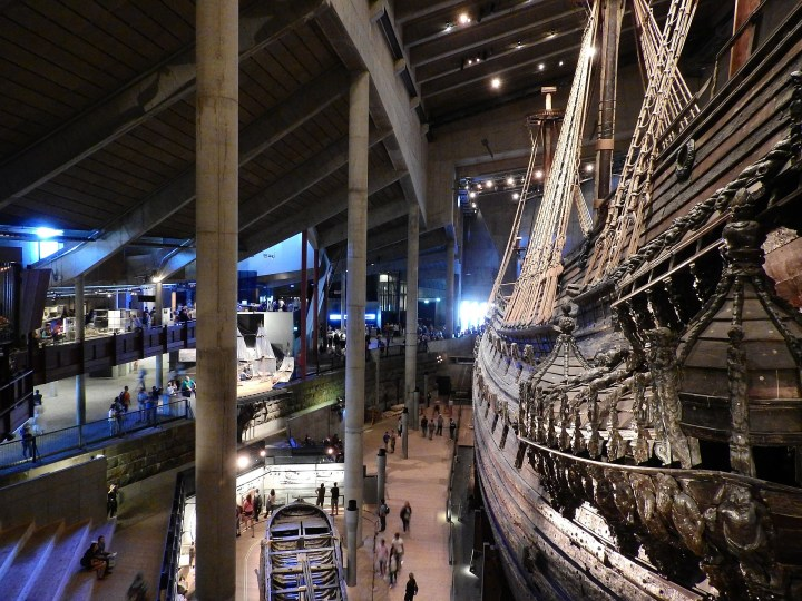 Inside the Vasa Museum on Djurgarden