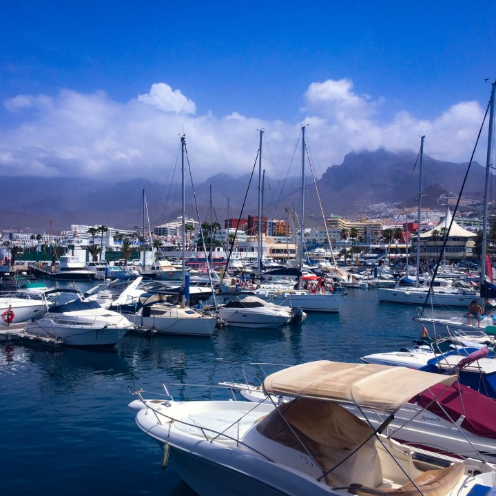 Yachts at the habour in Puerto Colon - Tenerife