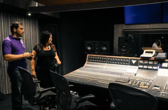 Karluca at the studio