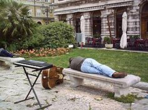 sleeping on the streets