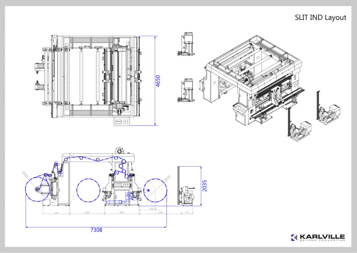 Slit Ind Wide Web Slitter Rewinder And Inspection