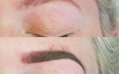 Before & after for ombré Microblading
