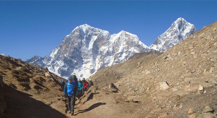 The clients are passing through Everest 3 passes trek