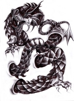 Karmaela Designs: Dragon tattoo design