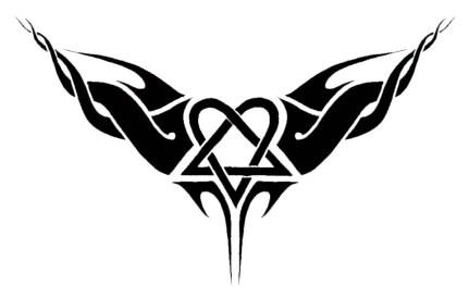 Karmaela Design: Heartagram logo/tattoo deisgn.