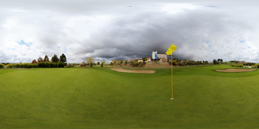 Campo de Golf de Villamayor (Salamanca). Hoyo 18 en 360º