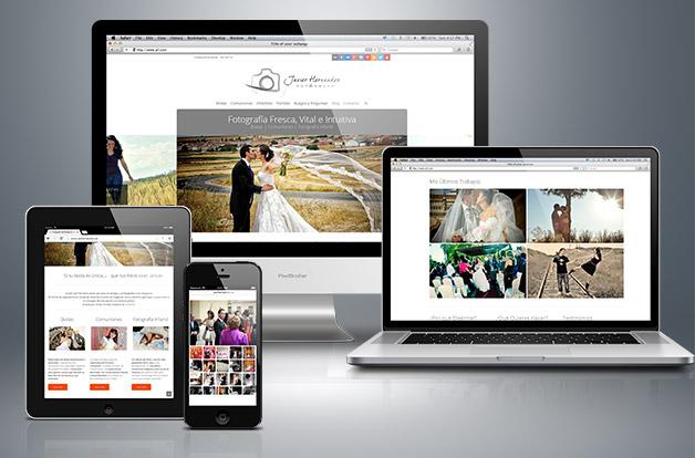 Javier Hernández estrena su web de fotografía de bodas, comuniones y fotografía infantil