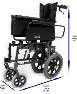 KM 5000TP Folded.1XL lightweight reclining wheelchair