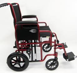 T 920W SIDE transport wheelchair / barriatric wheelchair