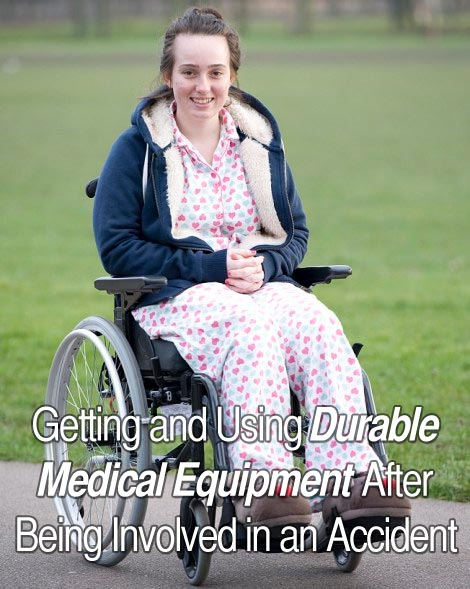 medical equipment after an accident