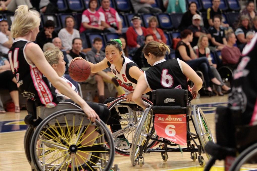 Girls wheelchair basketball