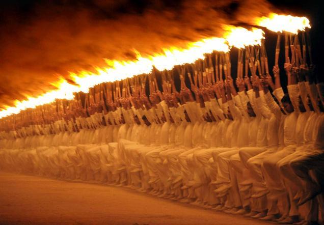 mysore dasara torch parade. Photo source hindu.com