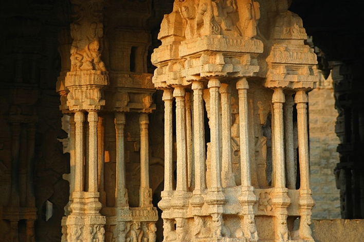 facts about Hampi, music pillars hampi