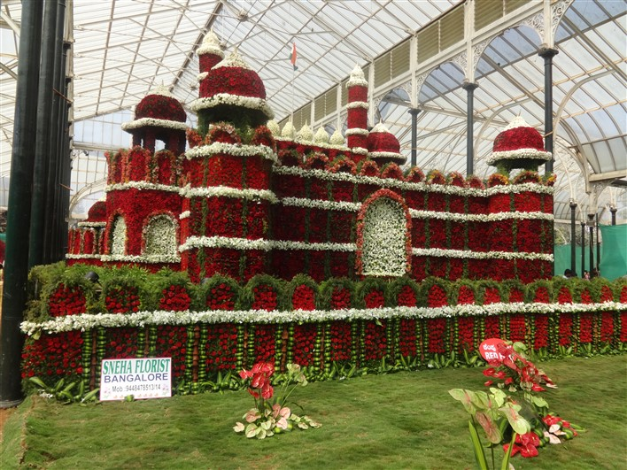 Redfort at Republic Day 2015 flower show at Lalbagh, Bangalore