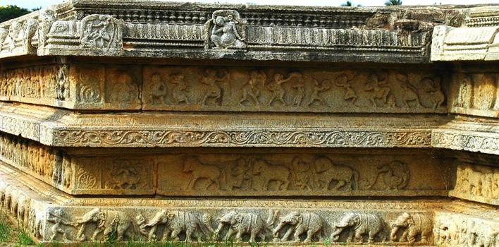 Carvings in the royal enclosure. Photographer  Soham Banerjee