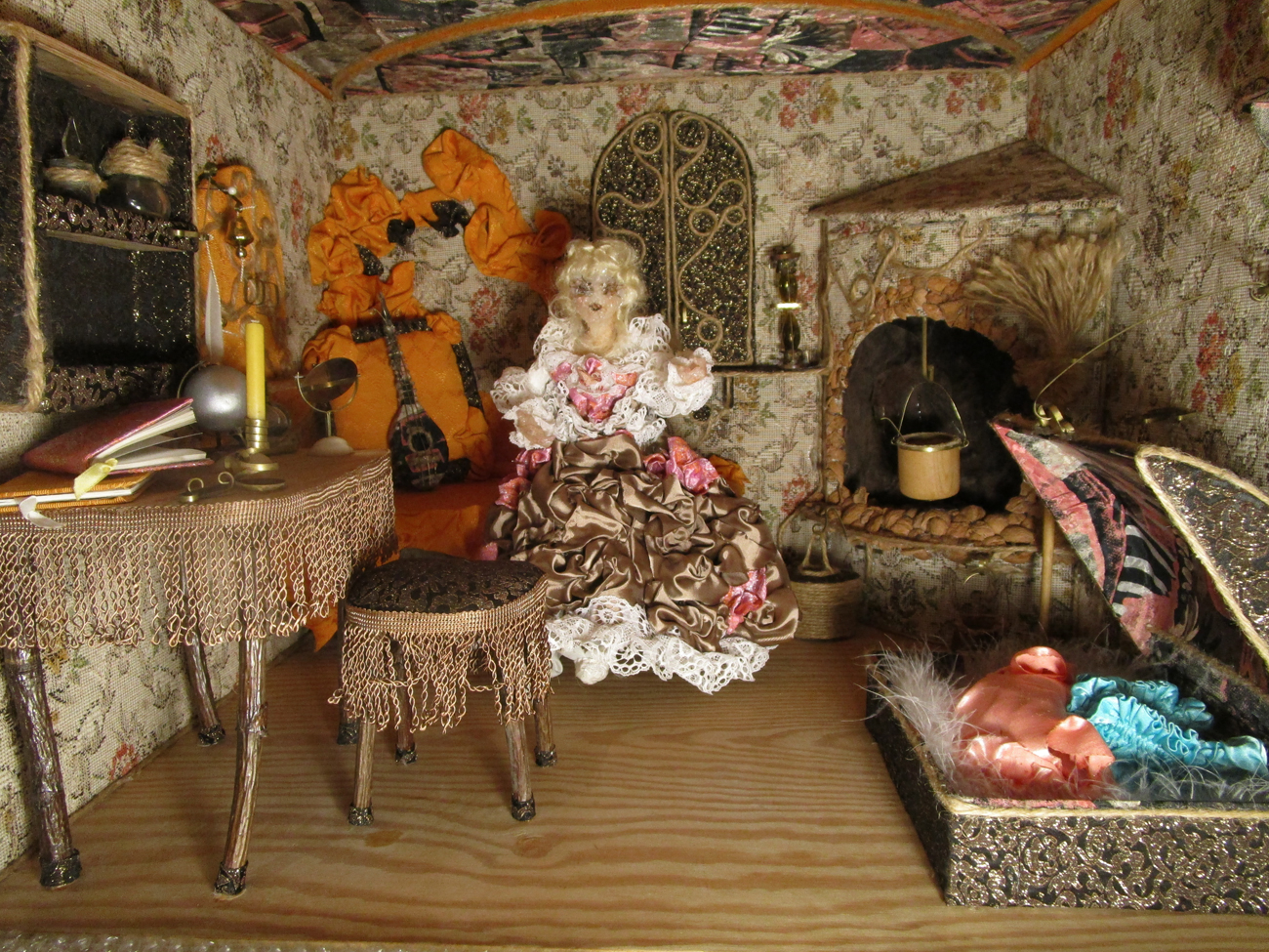 The Doll and her House, 1995, Anna Maria Karolak. Photo 41. Doll`s House - Doll House - Artistic Toy.