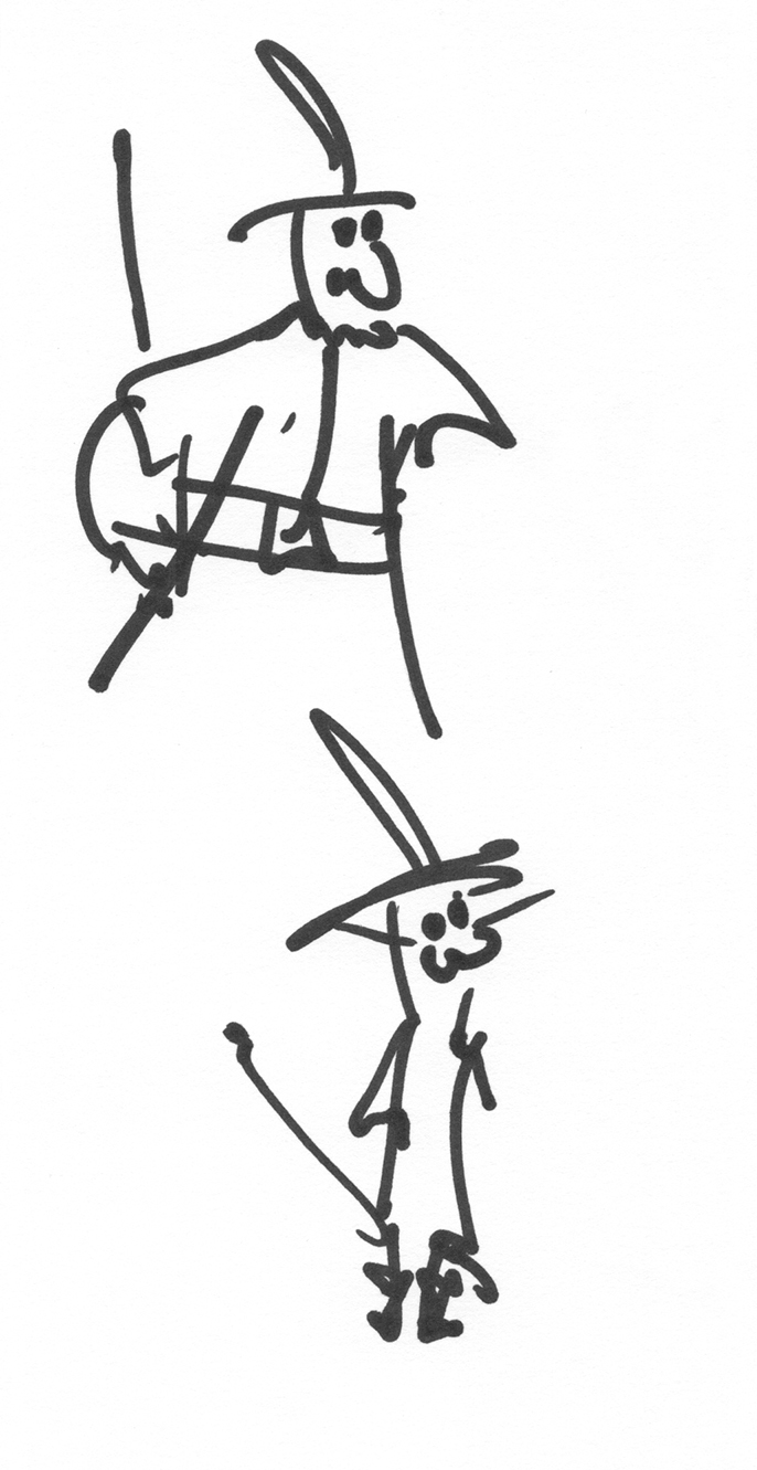 Marker Pen Drawings : The Pirates II/II, drawing with a marker.