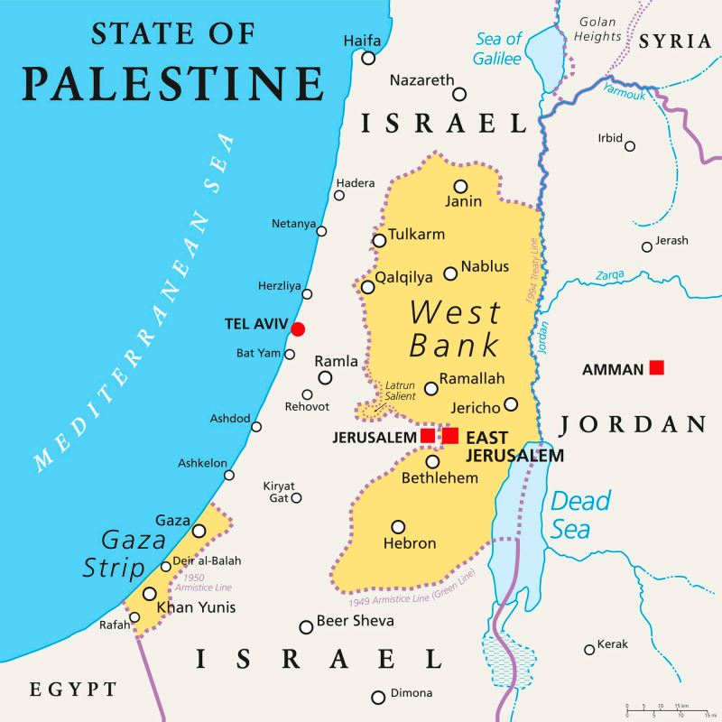 State of Palestine political map