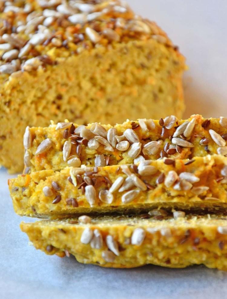 Protein oat carrot bread