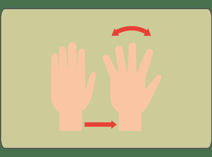 Bewegungsübung für Hände Karpaltunnel-Syndrom