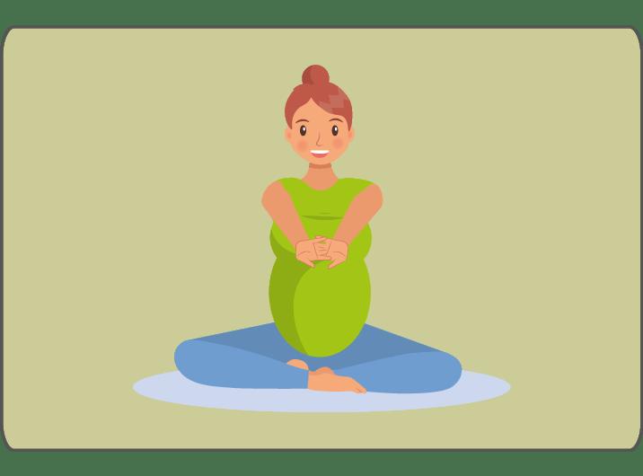 Schwangere macht Yogaübung