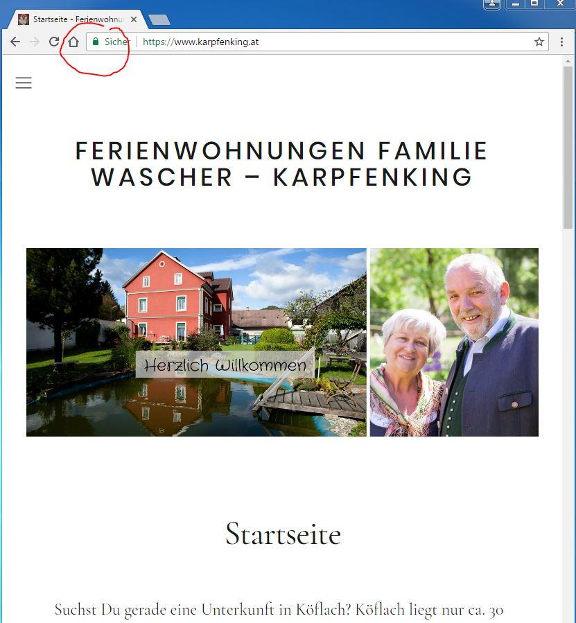 SSL Zertifikat auf Homepage - dadurch https://www.karpfenking.at