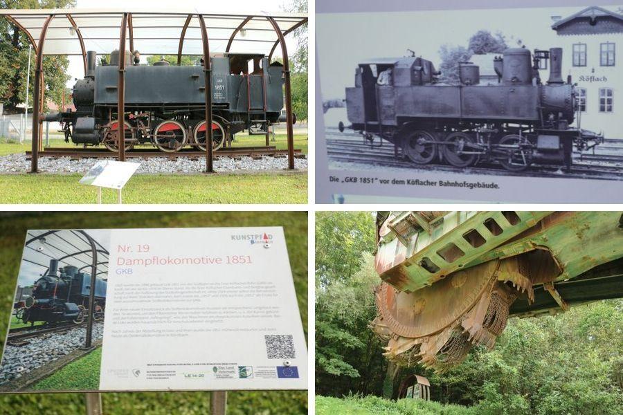 Dampflokomotive 1851 GKB & Schaufelradpagger