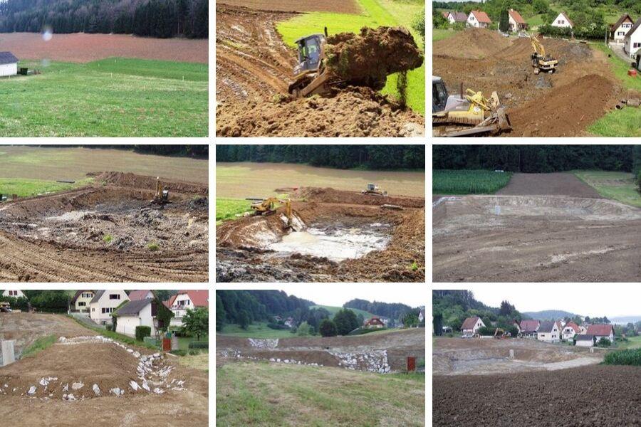 Bau-Tagebuch Fotos von der Teichanlage