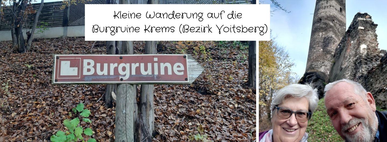 Wanderung mit Luis & Hannerl auf die Burgruine Krems in Voitsberg (Steiermark)