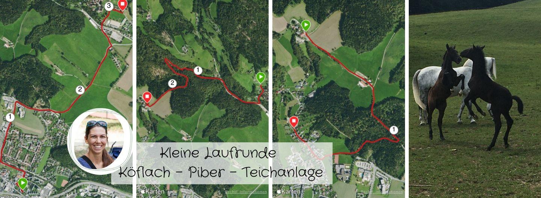 Kleine Laufstrecke-Laufrunde-Köflach-Piber-Teichanlage
