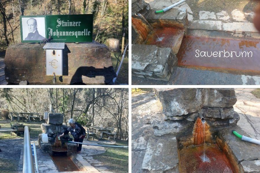 Wasser aus der Quelle Sauerbrunn