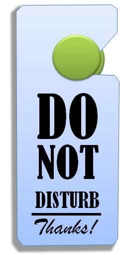 do not disturb (c) Sylvia Nickel