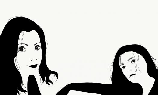Angelica och Karro, iPad pro
