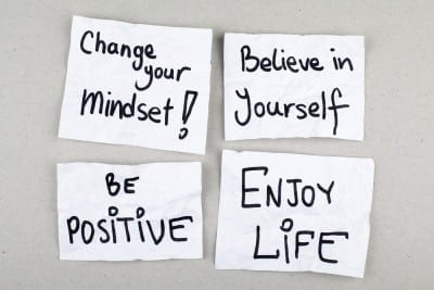 Positive affirmations are a type a self talk. Self talk can help us interrupt negative thoughts patterns.