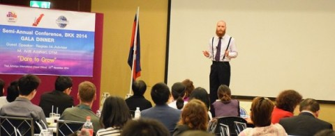Me giving a talk on 'What do you want ?' at a conference in Bangkok in November 2014.