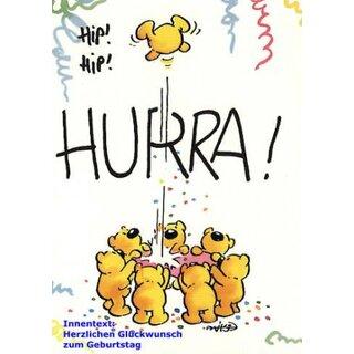 1 Doppelkarte Umschlag Geburtstagskarte Grusskarte Kinder
